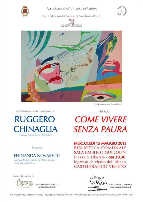 Come vivere senza paura Castelfranco-2013