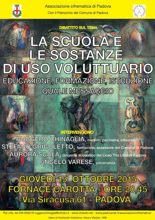 manifesto del dibattito LA-SCUOLA-E-LE-SOSTANZE