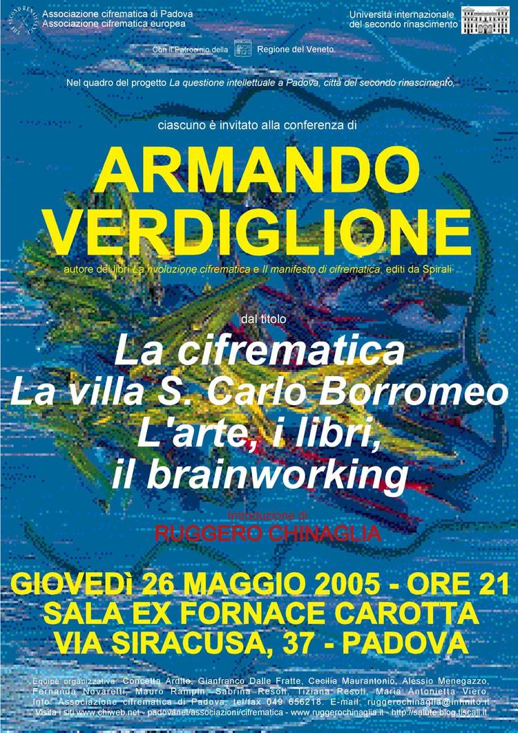 La cifrematica. La villa S. Carlo Borromeo. L'arte, i libri, il brainworking