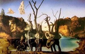 Dali - Swans reflecting elephants