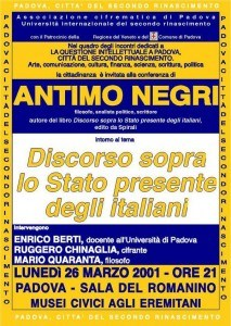 Discorso sullo stato presente degli italiani