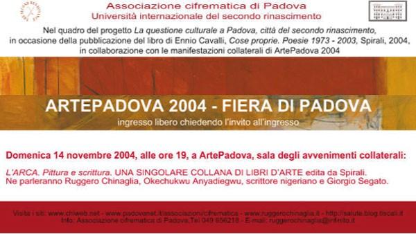 L'arca. Pittura e scrittura Artepadova 2004