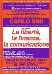 la libertà, la finanza. la comunicazione