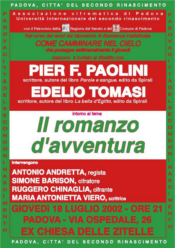 il romanzo d'avventura - Pier F. Paolini - Edelio Tomasi