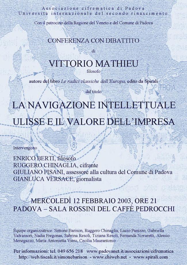 la navigazione intellettuale- Ulisse e il valore dell'impresa