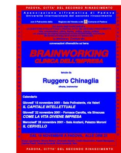 IL BRAINWORKING – CLINICA DELL'IMPRESA
