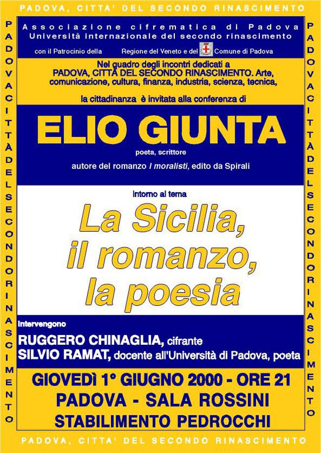 la Sicilia, il romanzo, la poesia