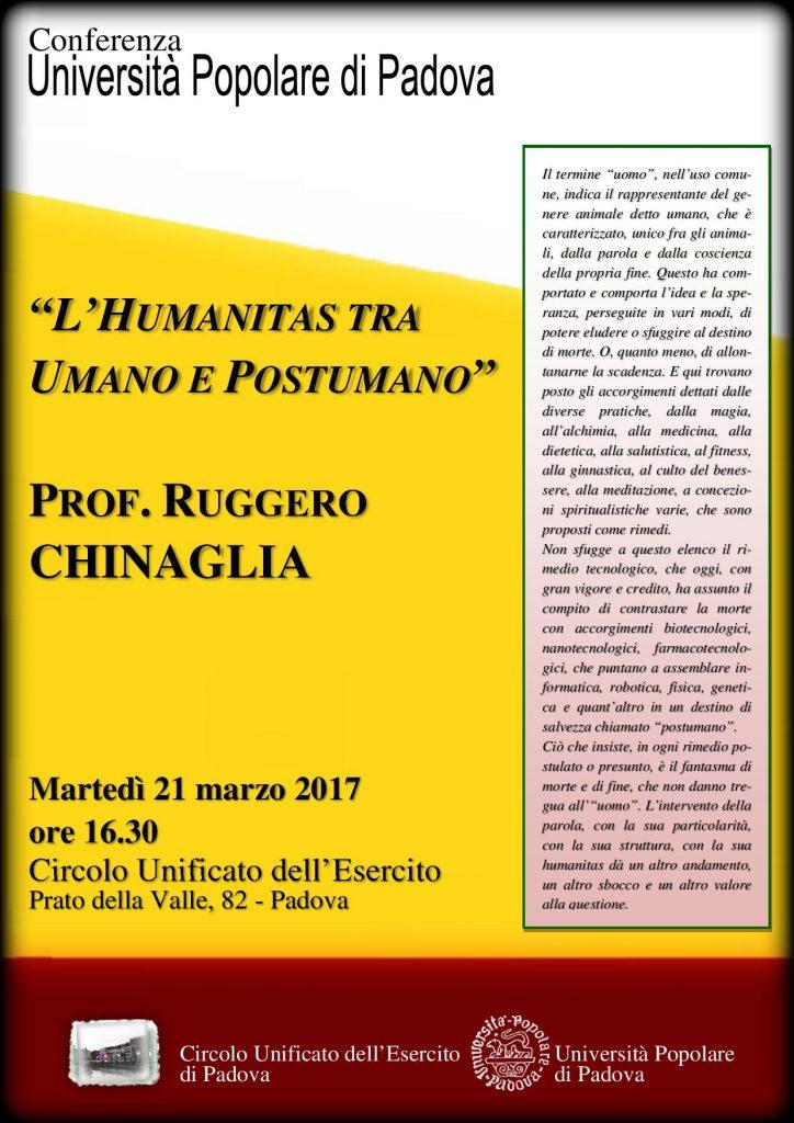 l'umanitas tra umano e postumano