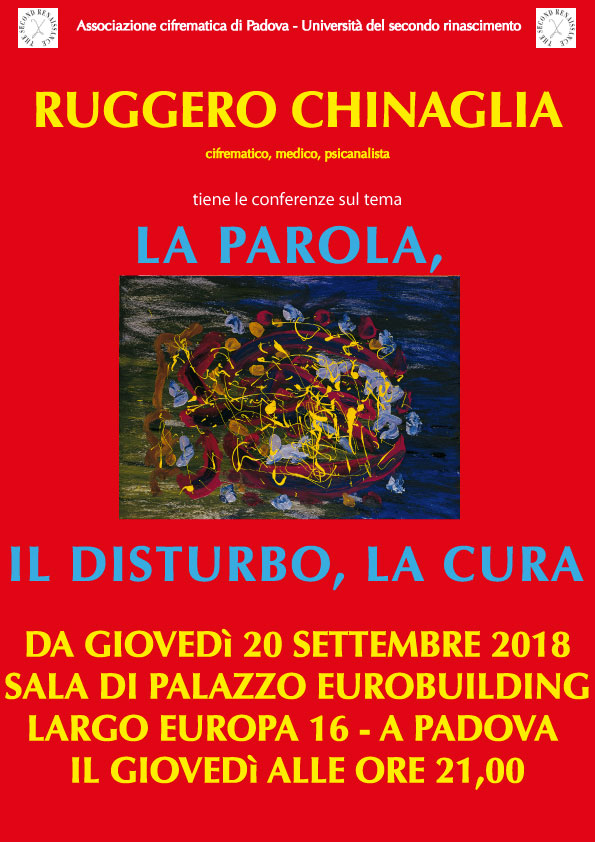 la parola, il disturbo, la cura, conferenze di Ruggero Chinaglia