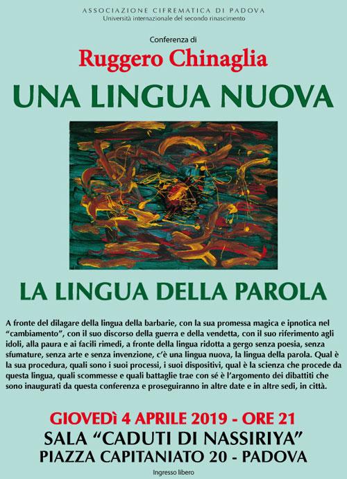 Una lingua nuova. La lingua della parola